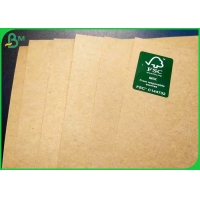 Buy cheap wood pulp 300g 350g natual brown Kraft Food wrapping Paper in roll package from wholesalers