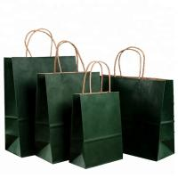Wholesale Roller Printing Medium Paper Bags With Handles / Kraft Paper Bags Machine Made from china suppliers