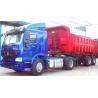 Blue 50 Ton Low Bed Trailer Two Single , 2 Axles dumper Semi Trailer Truck Manufactures