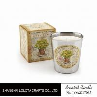 Wholesale Beautiful Smelling Home Scents Candles , Aromatherapy Soy Candles Amber Fragrance from china suppliers
