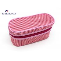Buy cheap Customized Fabric Makeup Bag Deep Pink Color Fabric Bag Lining Dust Proof 11.5cm from wholesalers