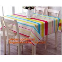 Buy cheap Table cloth PVC non-woven cloth waterproof cloth mat oil proof plastic tablecloth table clothdigital printed printed pvc from wholesalers