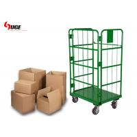 Buy cheap Green Powder Coated Roll Cage Trolley For Warehouse And Cold Storage from wholesalers