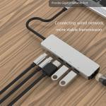 Buy cheap Aluminum Alloy 4K 30HZ   100Mbps  RJ45 8 In 1 USB C Hub from wholesalers