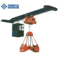 China Light Weight Single Girder Overhead Travelling Crane With Double Disc Hydraulic Grab on sale