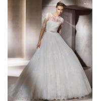 Wholesale New white/ ivory Lace Empire Wedding Bridal Dress Prom Gown Custom Made from china suppliers