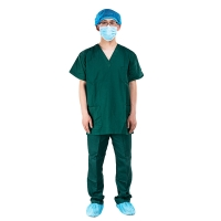 Buy cheap Hospital Operating Room Short Sleeve Unisex Medical Scrub Suits from wholesalers