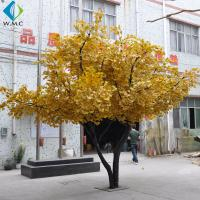 Wholesale Silk Fabric Golden Ginkgo Tree 3.5m Height Customized Design from china suppliers