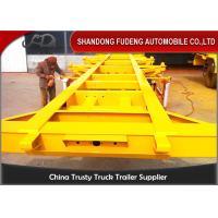 Buy cheap 2 / 3 Axles Chassis Trailer / Load Capacity 50 Ton Shipping Container Trailer from wholesalers
