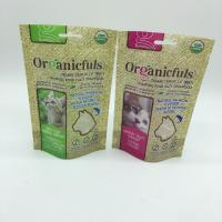 Wholesale Waterproof Zipper Cat Food Green Bag , Biodegradable Animal Feed Bags from china suppliers