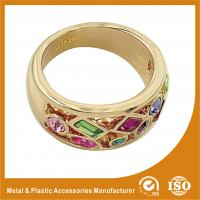 Wholesale 18K Gold Plated Fashion Jewelry Rings Ruby Setting Wedding Finger Ring from china suppliers