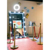 Buy cheap 55 65 Automatic touch screen selfie cheap magic mirror photo booth from wholesalers