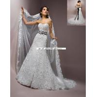 Buy cheap Beaded Black Sash Floor-Length Sweetheart Bridal Wedding Dress (WD10028) from wholesalers