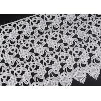 Buy cheap Wholesale White Flower Clothing Label Water Soluble Lace Trim For Garment from wholesalers