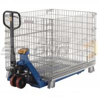 Buy cheap Collapsible Logistic Wire Container Storage Cages , Wire Mesh Storage Cages from wholesalers