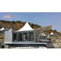 Wholesale 6x6m pagoda tent hotel tent with glass walls from china suppliers