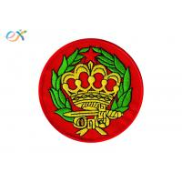 Buy cheap Round Iron On Patches , Custom Embroidered Badge Patches Pantone Color from wholesalers