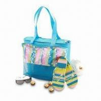 Buy cheap Beach Cooler Bag with Attractive Color Stripe and Simple Shape, Ideal for Beach Activities from wholesalers