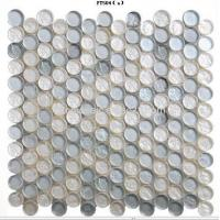 Wholesale Circle Glass Mosaic,Light Bright Silver, Dia23mm from china suppliers