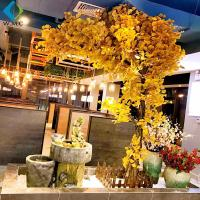 Wholesale Artificial Ginkgo Biloba Tree , 2.5m Height Yellow Ginkgo Tree Customized Design from china suppliers