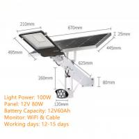 Buy cheap Solar LED Street Light DC 12V With Monitor from wholesalers