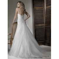 2013 Elegant A-line Scoop Ivory Pleated Appliqued Organza Wedding Dress Patterns