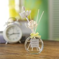 Buy cheap Transparent Home Reed Diffuser Round Bottle Simple Style With Gift Box from wholesalers