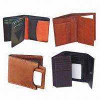 Wholesale Men's Wallets, Made of Genuine Cow Leather, Measures 10 x 9 x 2.5cm, OEM and ODM Orders Welcomed from china suppliers