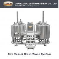 Craft Beer Brewing Equipment For Laboratory , Steam Heated 30 BBL Brewhouse 3mm Manufactures