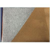 Buy cheap 50% Wool Blend Fabric For Coats , Soft Light Grey Wool Fabric Heavyweight from wholesalers