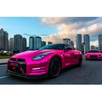 Buy cheap auto body colored Chrome Vinyl Car Wrap of Black / Orange / White / Pink from wholesalers