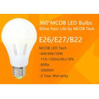 Buy cheap LED Light Bulb , 75 - 100 Watt Incandescent Bulbs Equivalent for Home Use , 360° Beam Angle, 1200lm 10W , Dimmable MCOB from wholesalers