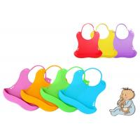 Buy cheap Customized Silicone Baby Bibs With Adjustable Secure Strap , Easy Cleaning from wholesalers