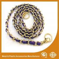 Buy cheap Customized Gold Copper Handbag Metal Chain With Leather Eco Friendly from wholesalers