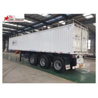 Buy cheap Box 3-4 Axles Flatbed Container Trailer 60-100Tons Dry Food Van Transport from wholesalers