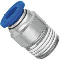 Brass Nickel Planting Pneumatic NPT Threaded Fittings Push In Male Straight Run Body