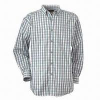 Buy cheap Men's Casual Checked Shirt with Long Sleeves, 1 Pocket, Customized Colors and Sizes are Accepted from wholesalers