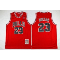 Wholesale Men's Chicago Bulls #23 Michael Jordan Red 1997-98 Mitchell&Ness Throwback Jersey from china suppliers