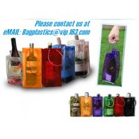 Buy cheap PVC Ice bag, Wine Beer Gift Bags, Wine Bag, drink ice bags, portable wine bags product