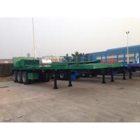 Buy cheap 40 feet  3 axles Leaf Spring Suspension Tail Cut container shipment Carbon Steel Flat Bed Semi-Trailer 9353TJZPQW from wholesalers