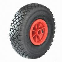 Buy cheap Pneumatic Rubber Wheel in 10-inch x 3.00-4, with Plastic Rim from wholesalers