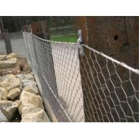 Buy cheap Knotted Type Stainless Steel Rope Mesh Netting Diamond Opening Bright Surface from wholesalers