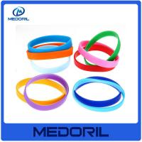 Buy cheap Promotional Cheap custom logo silicone slap bracelet with high quality from wholesalers
