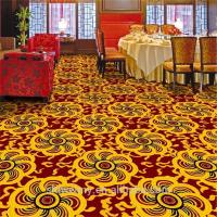 Buy cheap Cheaper yellow chrysanthemum pattern restaurant polypropylene carpet from wholesalers