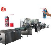 Pneumatic Drive Automatic Aerosol Filling Machine For Furniture Cleaner Spray Manufactures
