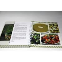 China Customized Professional CookBook Printing A4 UV Coating , Eco-friendly on sale