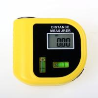 Wholesale mini portable ultrasonic distance meter with bubble level from china suppliers