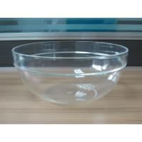 282g Round Salad Clear Acrylic Bowl With Customized Logo Manufactures