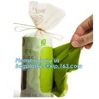 Buy cheap Compostable Caddy Liners plastic Garbage Bag on Roll, biodegradable compostable garbage bag for construction wastes from wholesalers