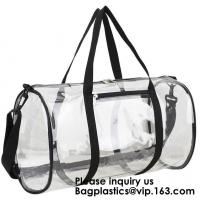 Buy cheap Clear Duffel Gym Bag Transparent PVC Carry Bag With Shoulder Strap,Cosmetic Carry Bag Magnet Pockets Detachable Shoulder from wholesalers